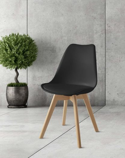 redealer scandinasche stoelen zwart