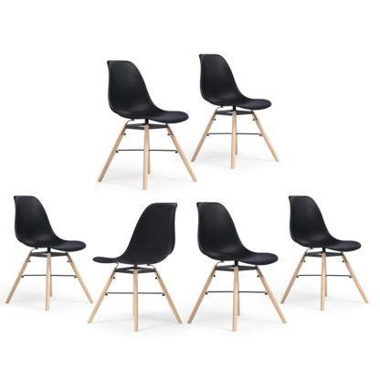 6 x kuistoel zwart redealer