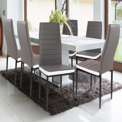 grijs stoel redealer 8 stuks
