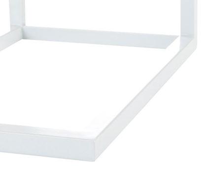 bijzettafel wit metaal acasiahout blad redealer