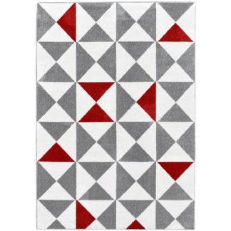 tapijt forsa nazar driehoeken rood wit grijs redealer