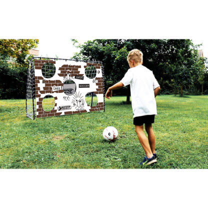 voetbaldoel met doelwand redealer