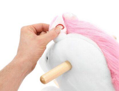 hobbelpaard wit roze redealer