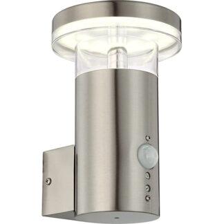 globo buitenlamp redealer rvs met sensor