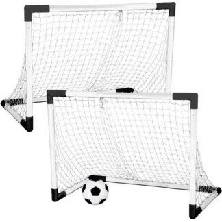 Mondo voetbal set met 2 x doel redealer