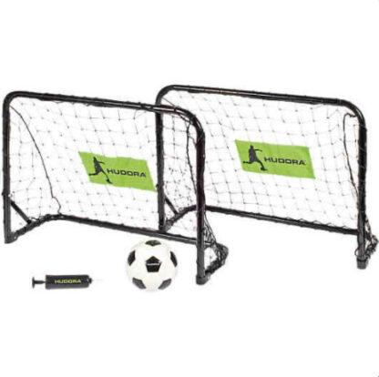 hudora voetbaldoeltjes 2 stuks metaal redealer
