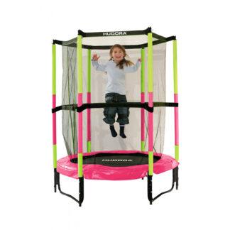 hudora trampoline rose en groen redealer