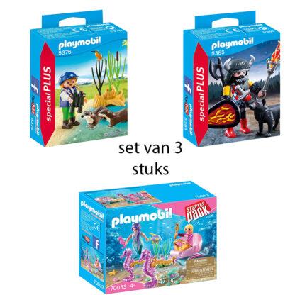 set van 3 playmobil verpakkingen redealer