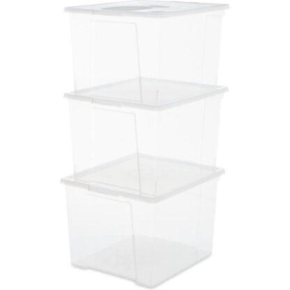 iris ohyama opbergbox useful storage 30 l transparant redealer