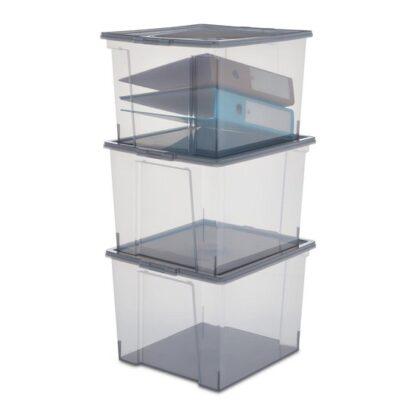 iris ohyama opbergbox useful storage 30 l grijs transparant redealer