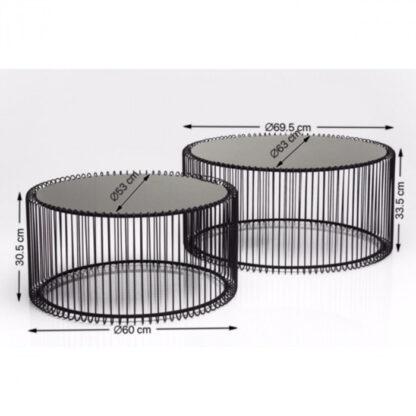kare zwart tafel wire redealer